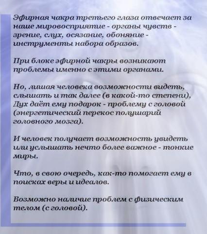 Эфирная Чакра Третьего Глаза
