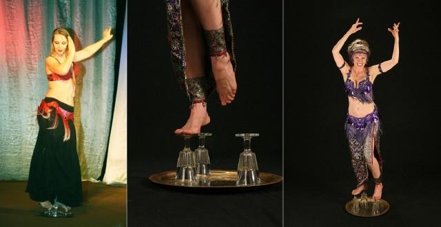 танец живота на стаканах