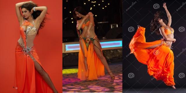 26-28. оранжевые восточные костюмы