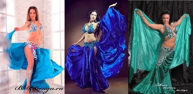 14-16.синие восточные костюмы