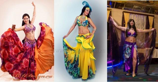 разноцветные восточные костюмы